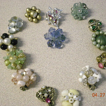 all my single clip on vintage earings and more - Costume Jewelry