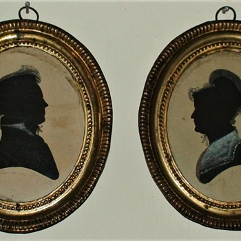Antique Silhouettes Of Lawrence And Mary Whipple - Fine Art