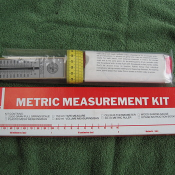 1970's Boy Scout Metric Measurement Kit - Sporting Goods