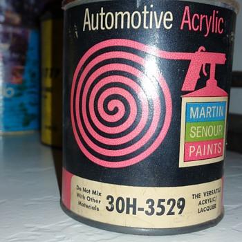 Vintage paint can