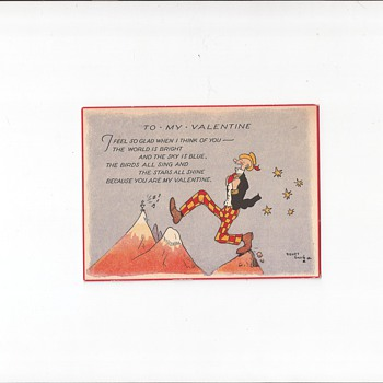 Sidney Smith Valentine Postcard - Postcards
