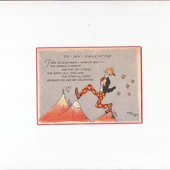 Sidney Smith Valentine Postcard - Postcards