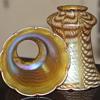 Steuben Art Glass Lamp Shades - A Pair in a Fabulous Decor!!