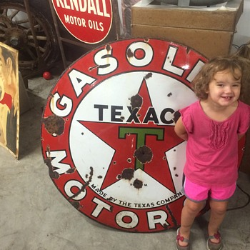 1930's Texaco sign Double side - Petroliana
