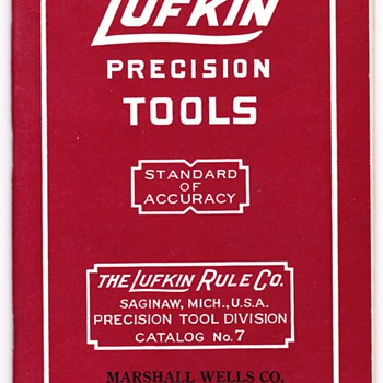 Pre 1960 Lufkin Precision Tool Catalogs defined - Tools and Hardware