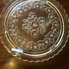 Clear, Floral design, cake plate?