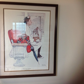 normal rockwell on vacation signed by thomas rockwell