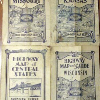 Vintage Highway Maps  - Petroliana