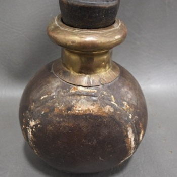 Tin Flask or Musket ball container? - Military and Wartime