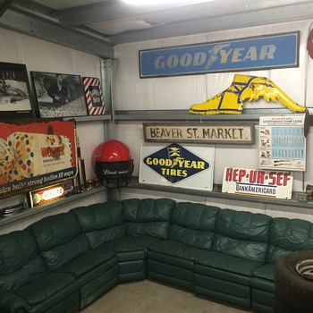 My new lounge area in the man cave - Advertising