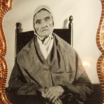 Sixth plate tintype of 95 year old woman