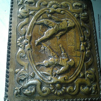 Leather cigar box - Tobacciana