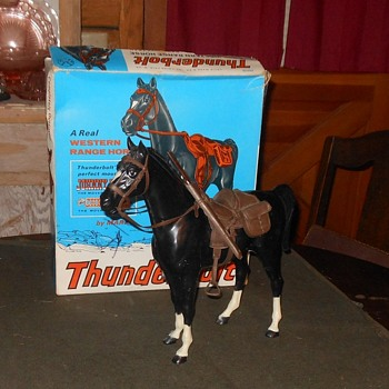 Johnny West Black Thunderbolt Horse With Original Box - Toys