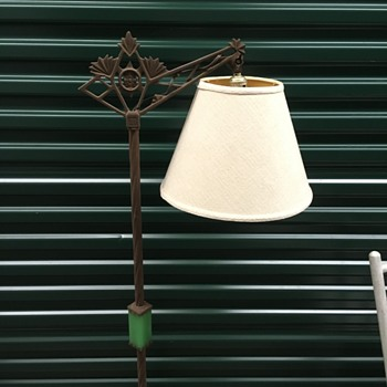 Iron Green Stone Lamp - Lamps