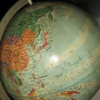 cool old 1960's globe