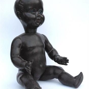 ancienne poupée plastique noire années 50 - Toys