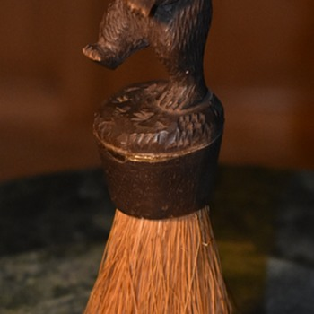 Carved Wood Dancing Bear Brush?!