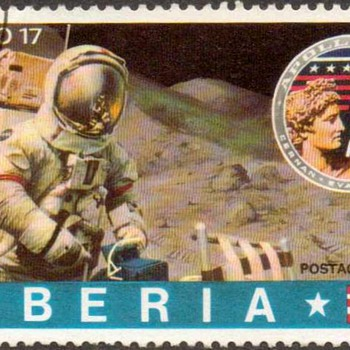 "1973 - Liberia - ""Astronaut"" Postage Stamp - Stamps"