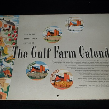 1953 The Gulf Farm Calendar - Advertising