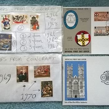 stamps and first day issues from the 1960s/70s.