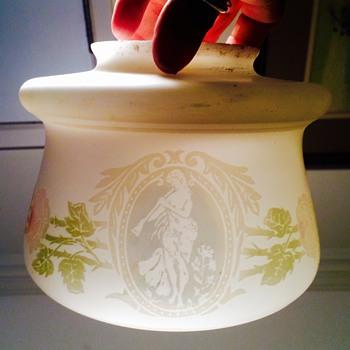Bohemian? Mt Washington? Webb? Cameo Portrait? Lamp Shade  - Art Glass