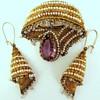 Seed Pearl Earrings and Brooch Set