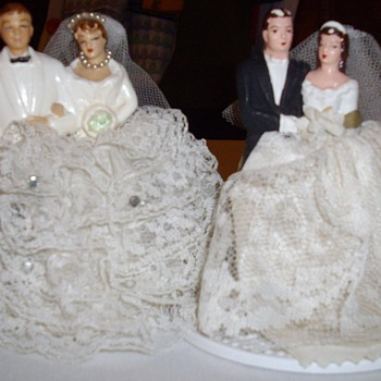 Vintage wedding cake toppers.