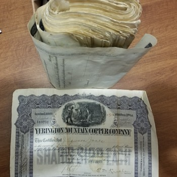 Help with old stock certificates