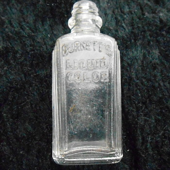 Old Food Coloring Bottle