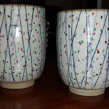 Pair of Yunomi Cups - Pottery