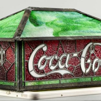 Coca-Cola leaded Glass Shade - Lamps