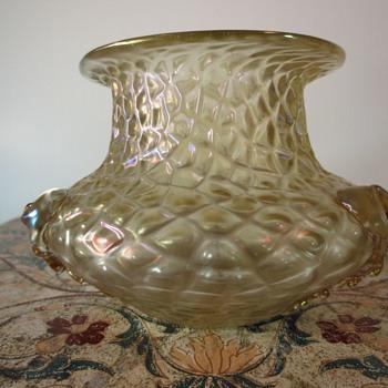 Kralik Golden Iridescent Martele Pattern?  - Art Glass