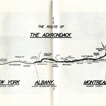 Route of the D&H's Adirondack - Railroadiana