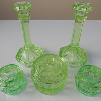 Libochovice trinket set. - Glassware