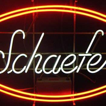 Large Schaefer Neon Sign