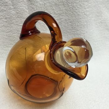Amber Glass Decanter - Cambridge Glass  - Glassware