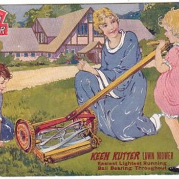 Keen Kutter Reel-mower ad sign