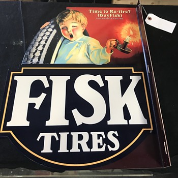 Fisk tire flange sign . Fantasy one of 40  - Signs