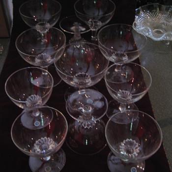 Crystal Wine Glasses Made in GERMANY U.S.Z. - Glassware