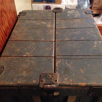 Old Odd Wooden Trunk - Furniture