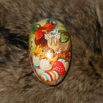 Paper Mache Easter Egg Western Germany - Advertising