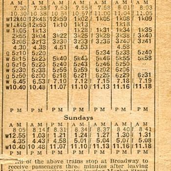 PRR (WJ&S) Passenger Timetable effective September 25, 1927 - Railroadiana