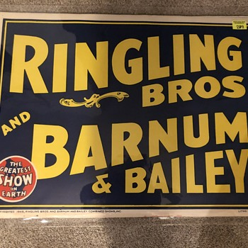 Need help. Are these real or reprints? (Ringling Bros posters) - Posters and Prints