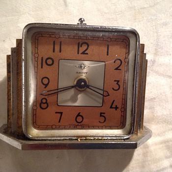 """1920's-1930's Art Deco French Dep """"Savoy"""" alarm clock."""
