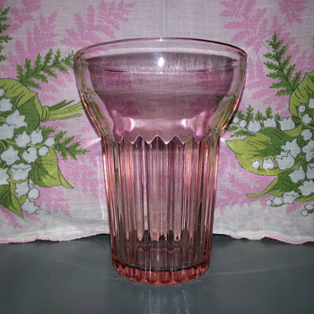 Anchor Hocking Pink Queen Mary Tumbler - Glassware