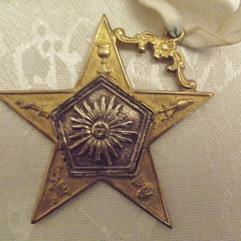 Star Medallion Award Masonic?? - Medals Pins and Badges