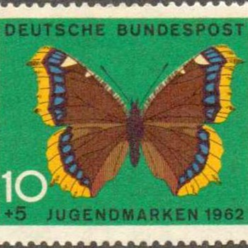"1962 - West Germany - ""Butterflies"" Postage Stamps - Stamps"