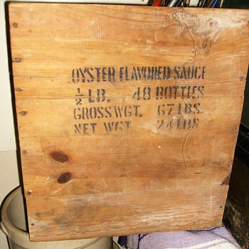 Old Wood Crate -- Oyster Box - Advertising