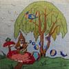 Hippie Made Needlepoint Hookah Smoking Gnome on a Mushroom...