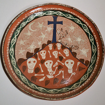 Dia de los Muertos platters - Folk Art